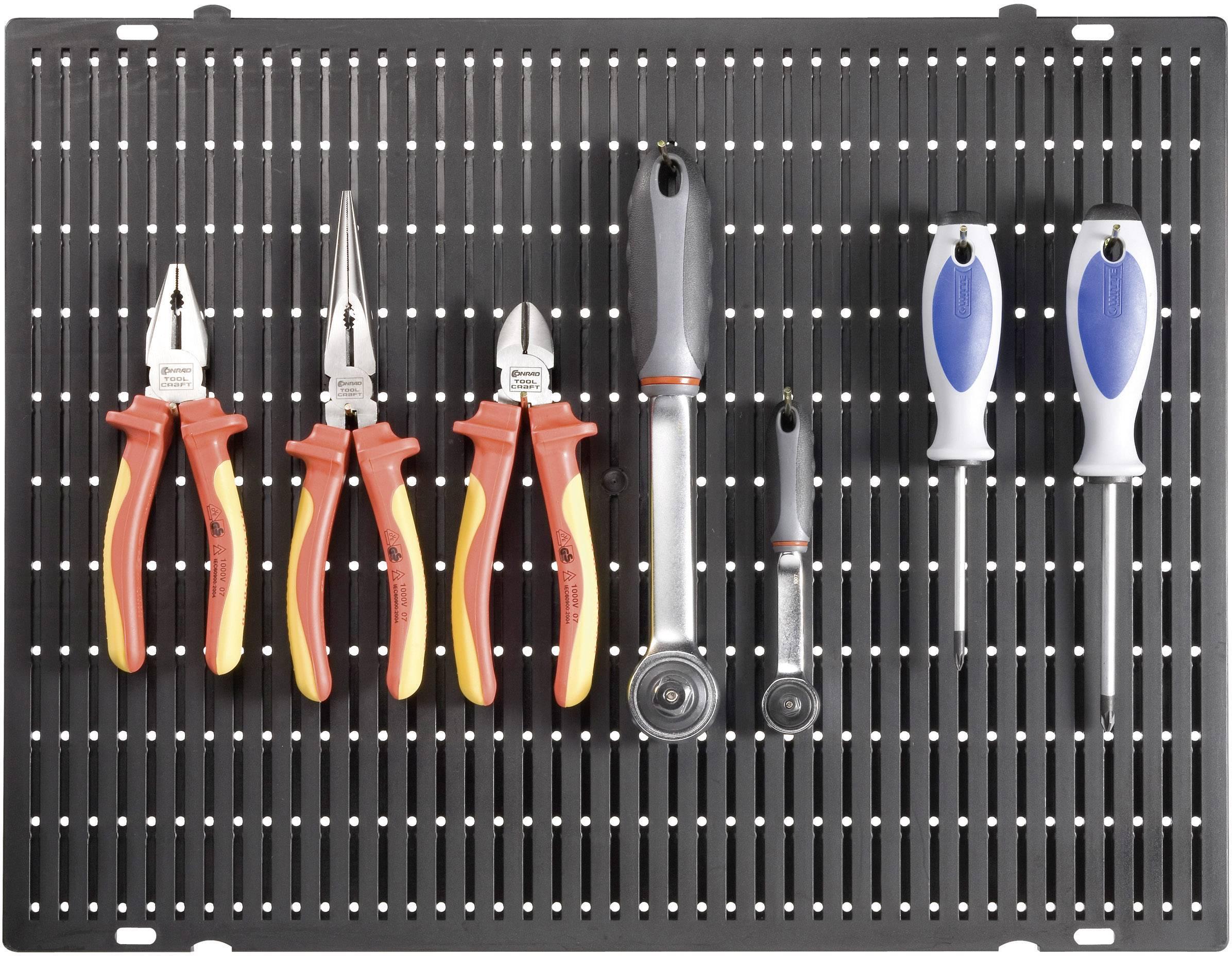 Děrovaná stěna na nářadí TOOLCRAFT 88 63 24, (d x š x v) 508 x 390 x 15 mm