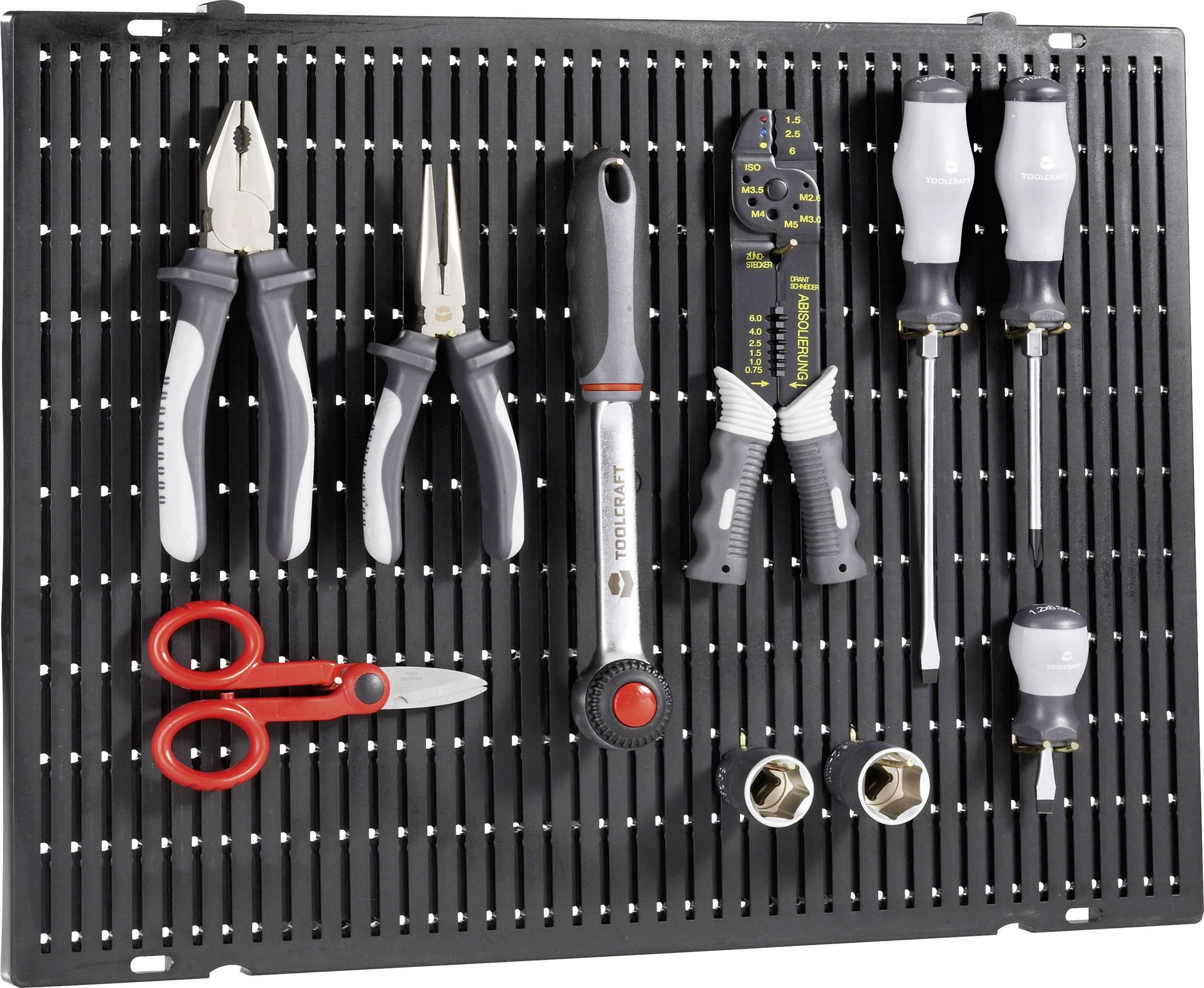 Toolcraft viacúčelová platňa s dierkami