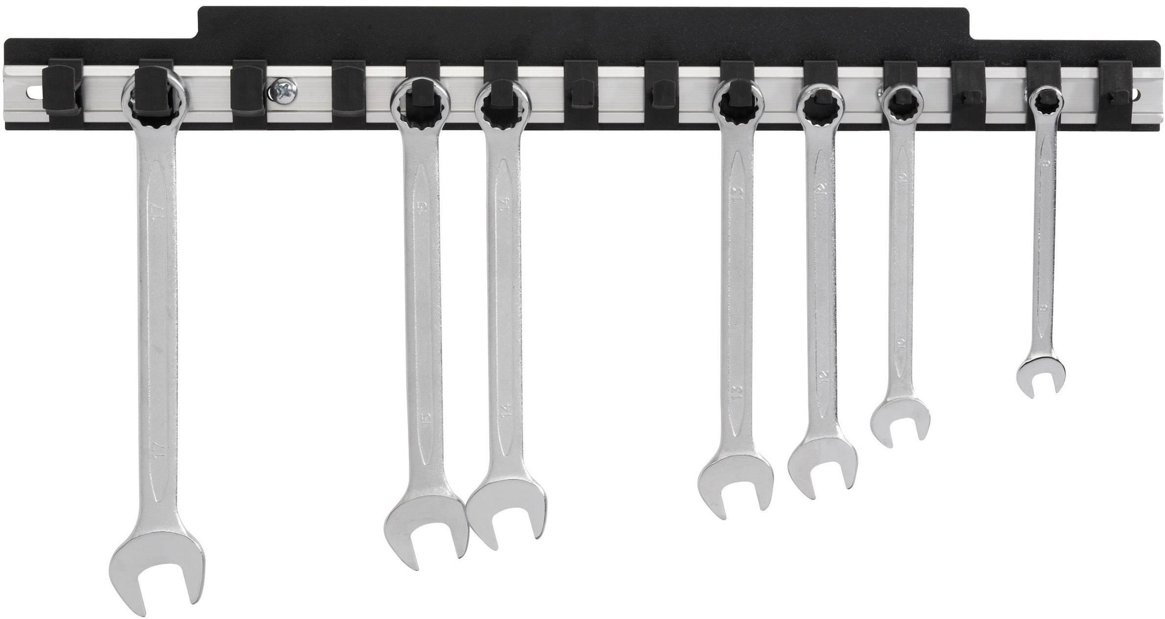 Hliníková lišta pro uložení plochých klíčů Toolcraft 886892, 435 mm x 48 mm