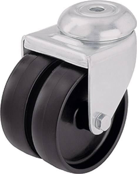Dvojité otočné kolečko se závitem pro šroub, Ø 50 mm, Blickle 106724, LMDA-POA 50G