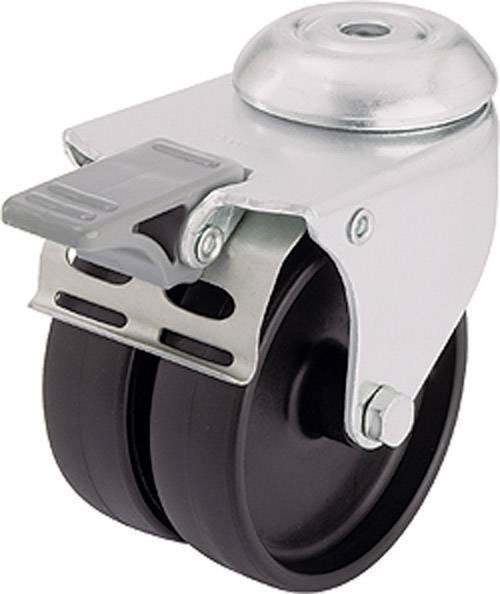 Dvojité kolečko se závitem pro šroub a brzdou, Ø 75 mm, Blickle LMDA-POA 75G-FI