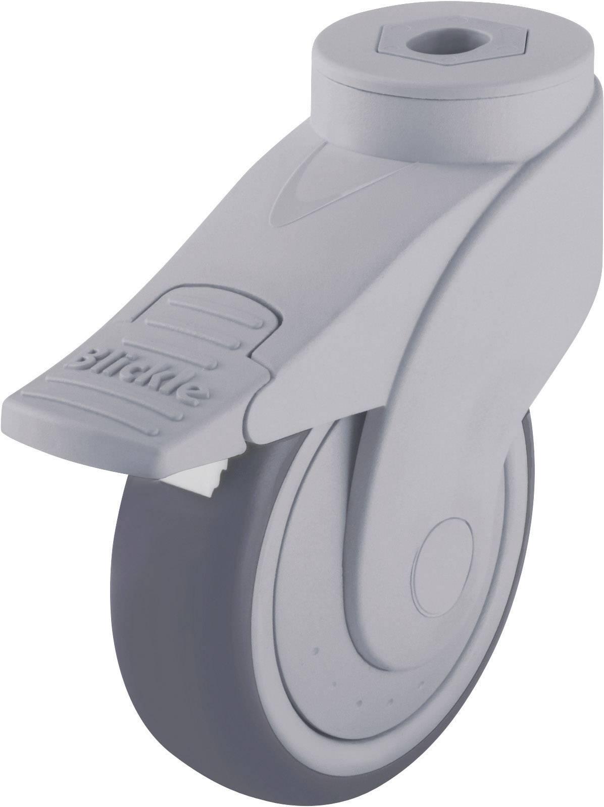Plastové otočné kolečko se závitem pro šroub a brzdou,/O 100 mm, Blickle 744739