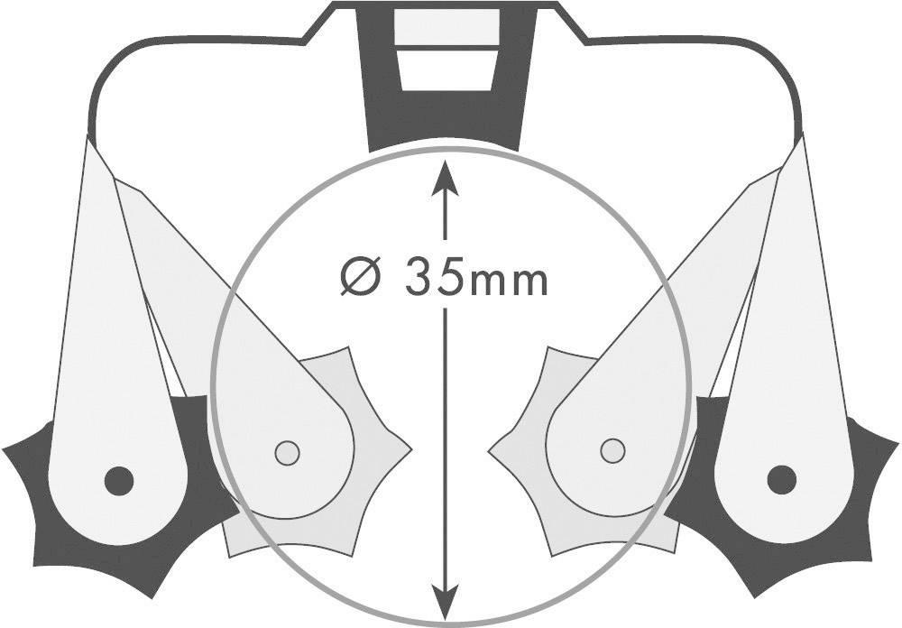 Sada držáků Prax, Ø 35 mm, 0,5 mm. 6 ks