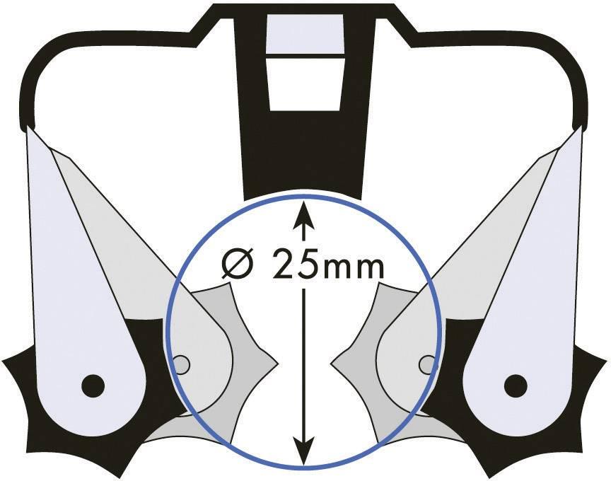 Sada držáků Prax, Ø 25 mm, 0,8 mm, 6 ks