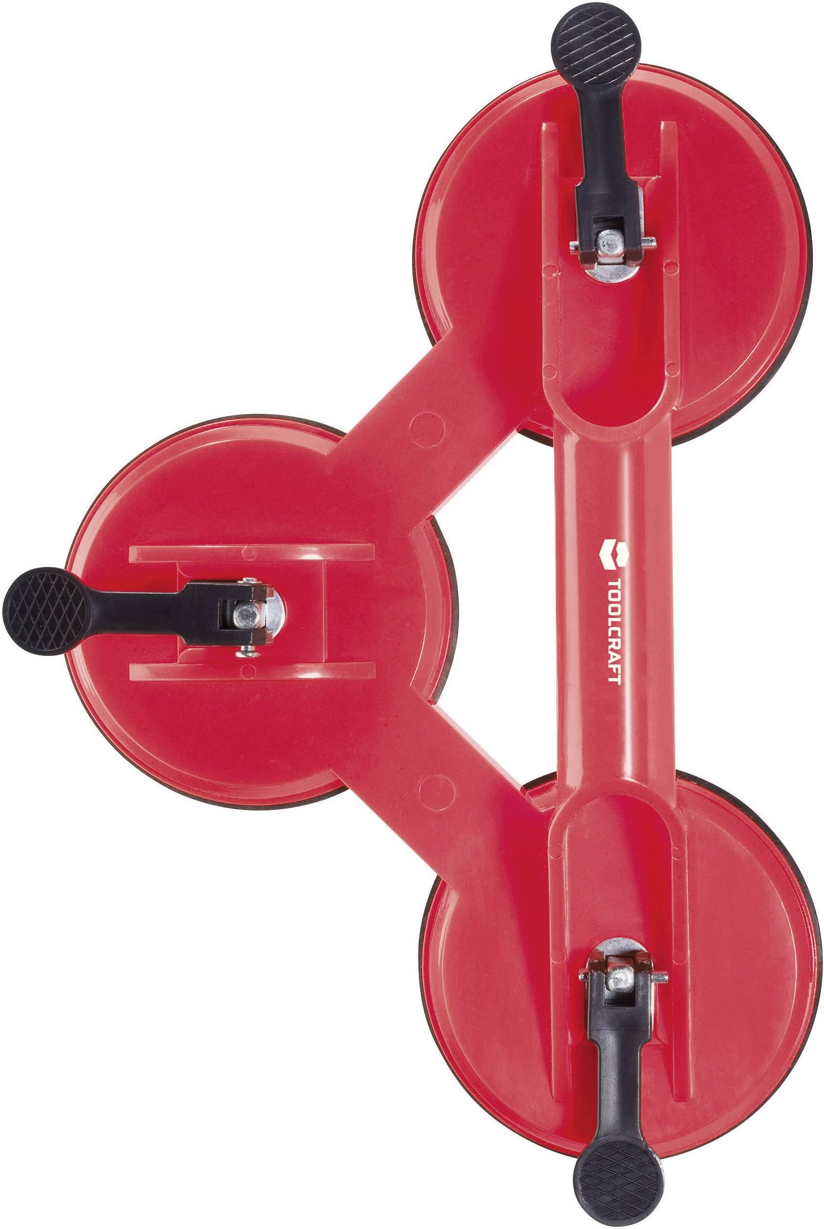Trojitá prenášacia prísavka s madlom TOOLCRAFT 889686, Max.nosnosť 110 kg