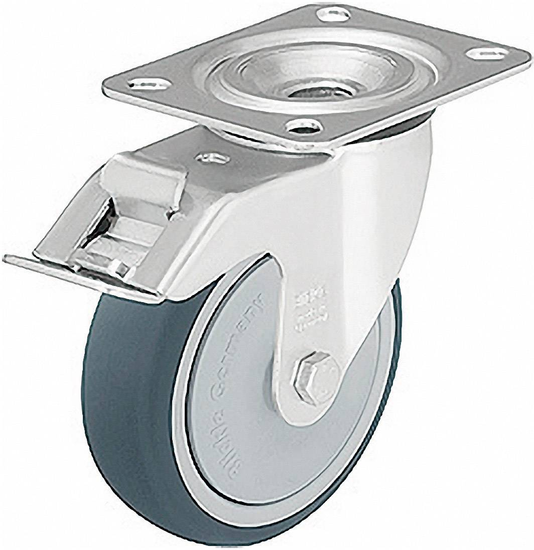 Otočné polyuretanové kolečko s kontrukční deskou a brzdou,/O 125 mm, Blickle 337907