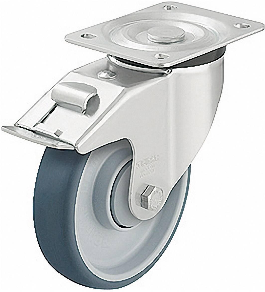 Polyuretanové otočné kolečko s kontrukční deskou a brzdou,/O 160 mm, Blickle 472290