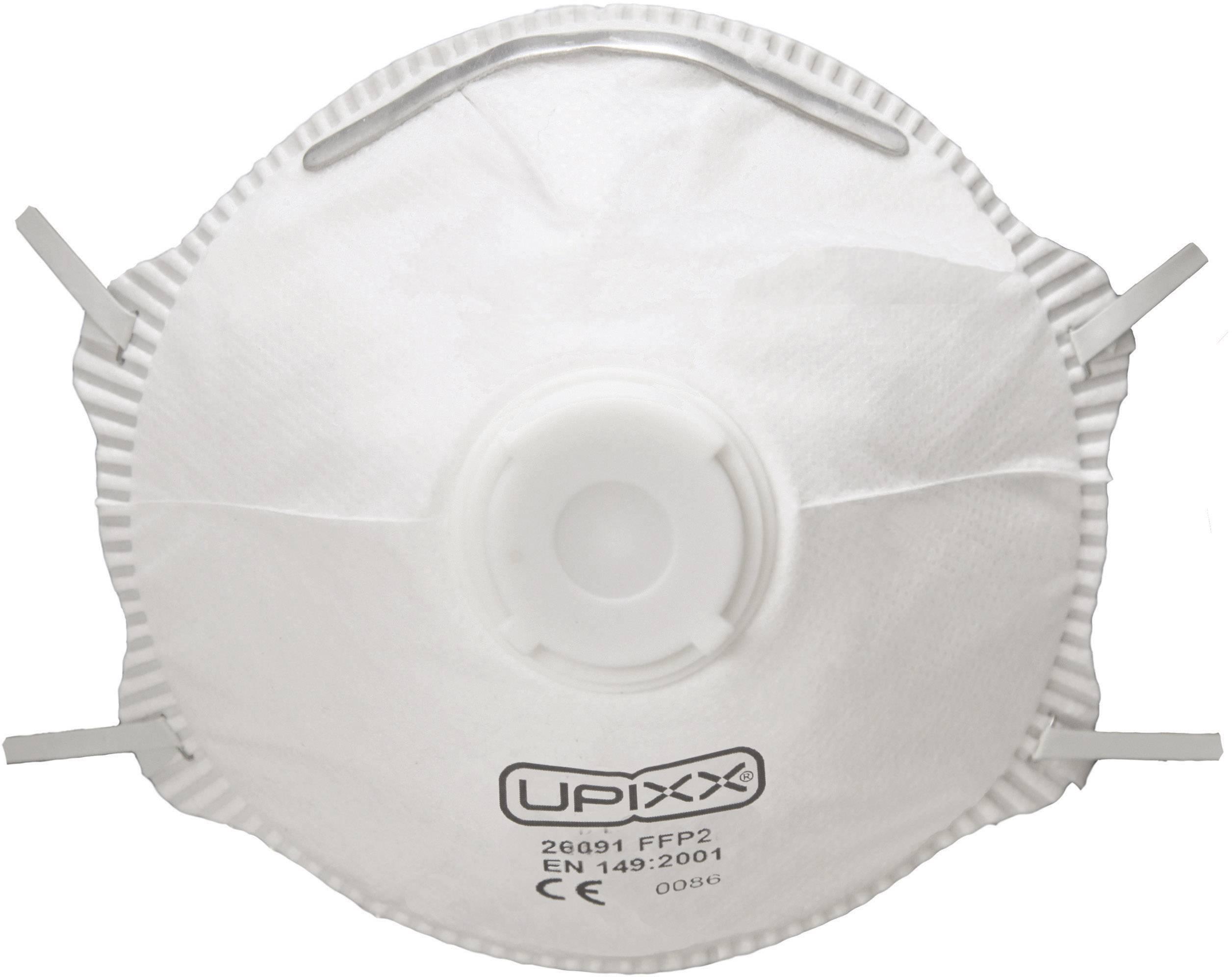 Respirátor proti jemnému prachu, s ventilem Upixx 26091, 1 ks