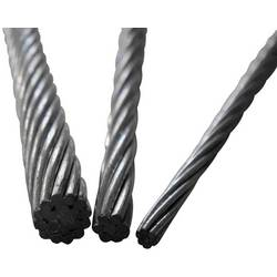 Oceľové lano drôtové TOOLCRAFT 486762, (Ø) 3 mm, sivá