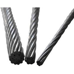 Oceľové lano drôtové TOOLCRAFT 13211100300, (Ø) 3 mm, sivá