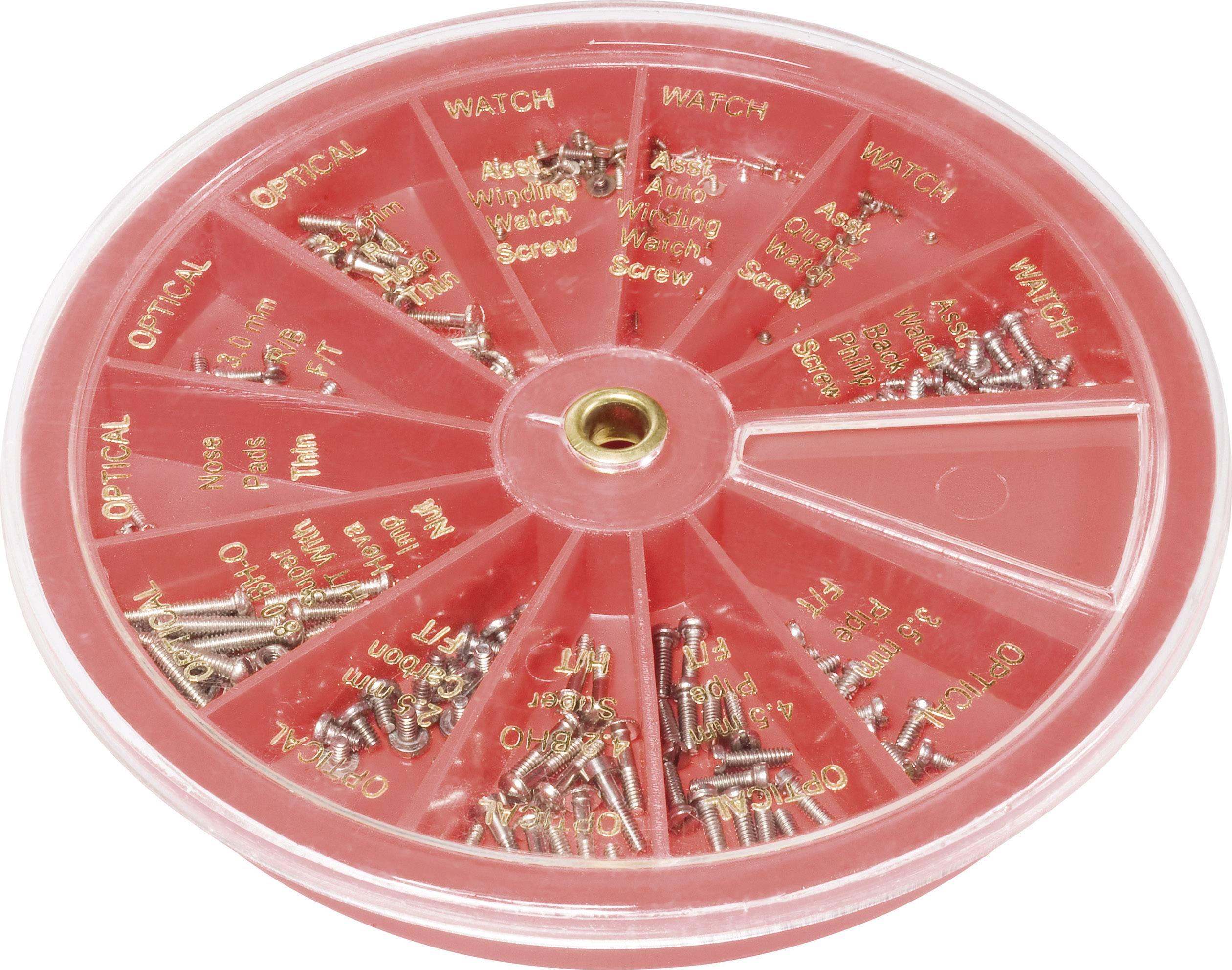 Sada šroubků pro opravu hodinek a brýlí Toolcraft, 7040497, 240 ks