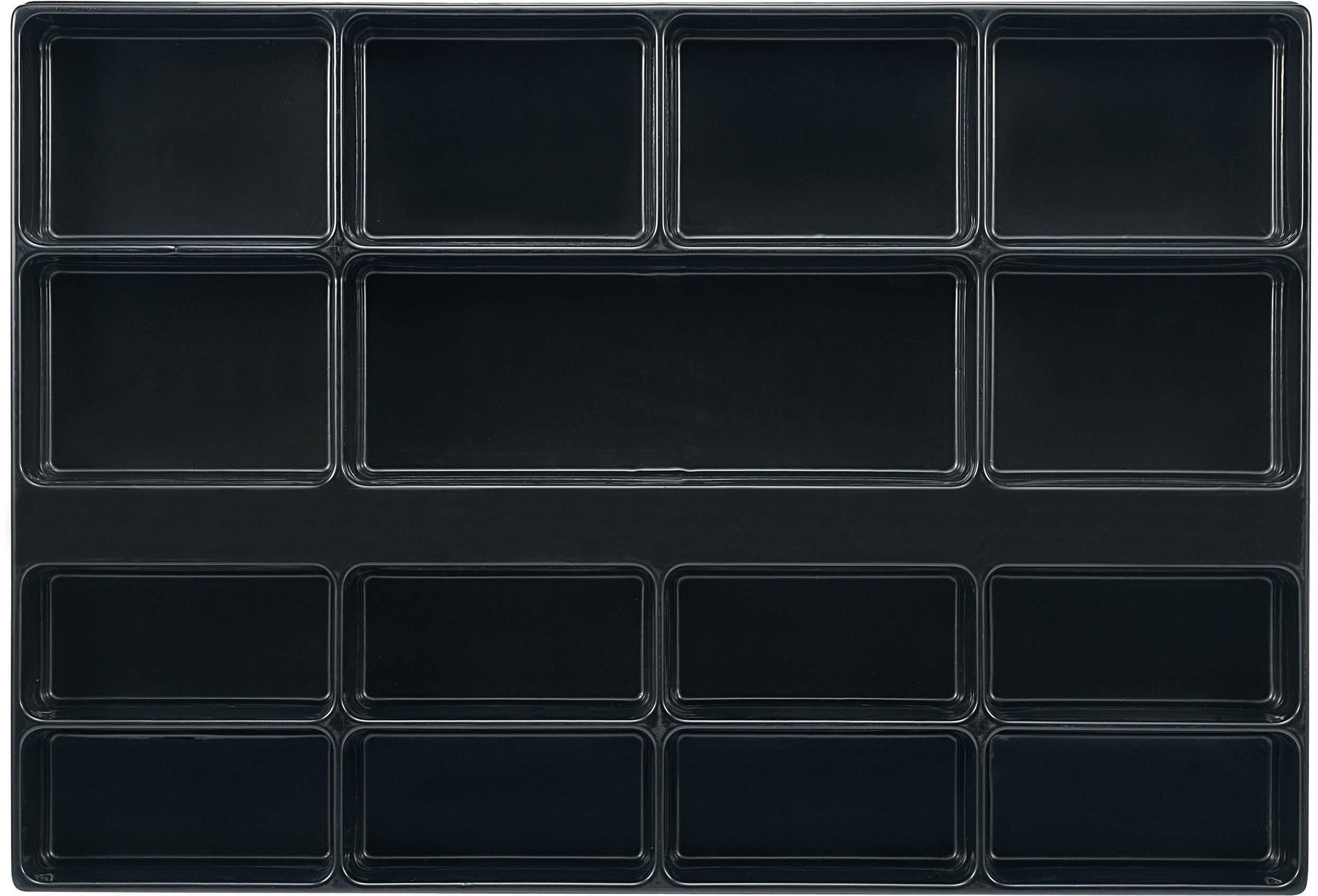 Zásuvky s 15 přihrádkami TOOLCRAFT 96029C700, rozměry:(d x š x v) 570 x 392 x 50 mm