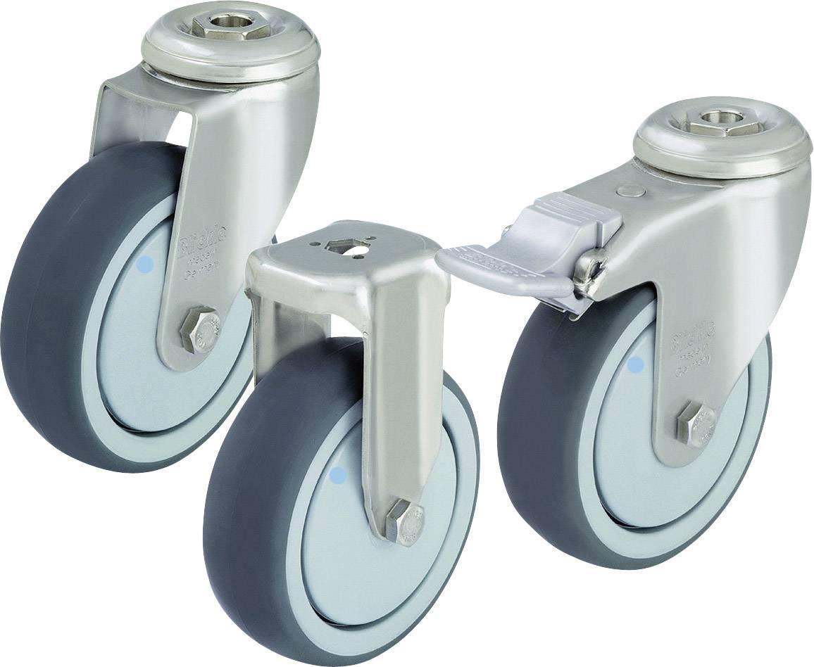 Otočné kolečko se závitem pro šroub a brzdou, Ø 125 mm, Blickle 574640