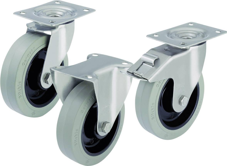 Otočné kolečko s konstrukční deskou a brzdou, Ø 100 mm, Blickle LEX-POEV 100KD-SG-FI