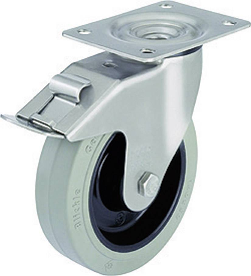 Otočné kolečko s konstrukční deskou a brzdou, Ø 200 mm, Blickle LEX-POEV 200KD-FI-SG