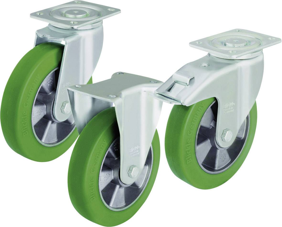 Otočné kolečko s konstrukční deskou a brzdou, Ø 125 mm, Blickle LH-ALST 125K-1-FI