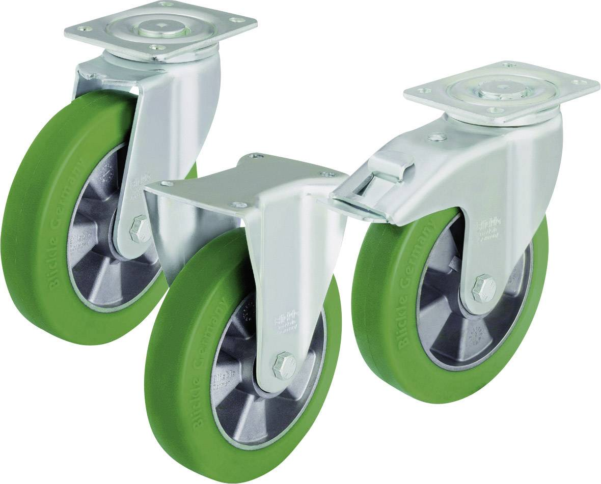 Otočné kolečko s konstrukční deskou a brzdou, Ø 200 mm, Blickle LH-ALST 200K-FI