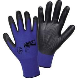 Pracovní rukavice L+D worky Nylon Super Grip Nitrile 1165, velikost rukavic: 8, M