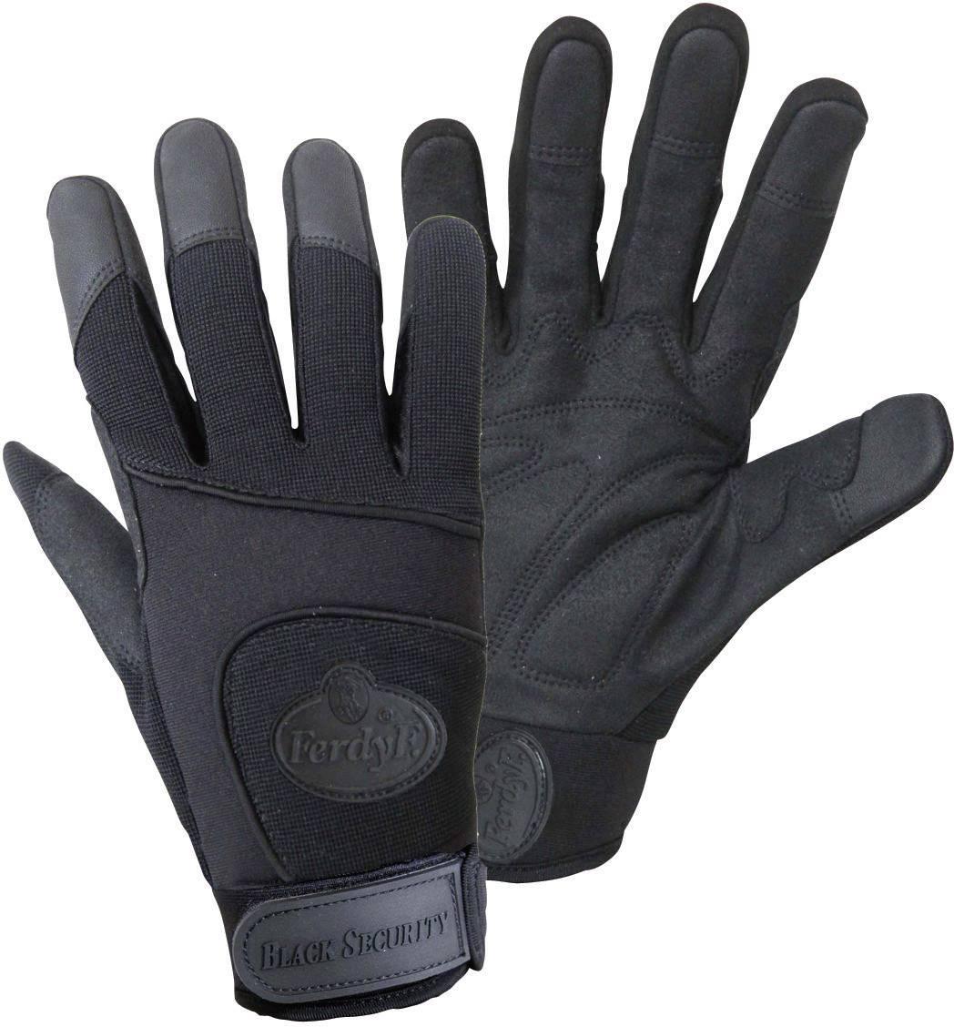 Montážní rukavice FerdyF. BLACK SECURITY Mechanics 1911, velikost rukavic: 7, S