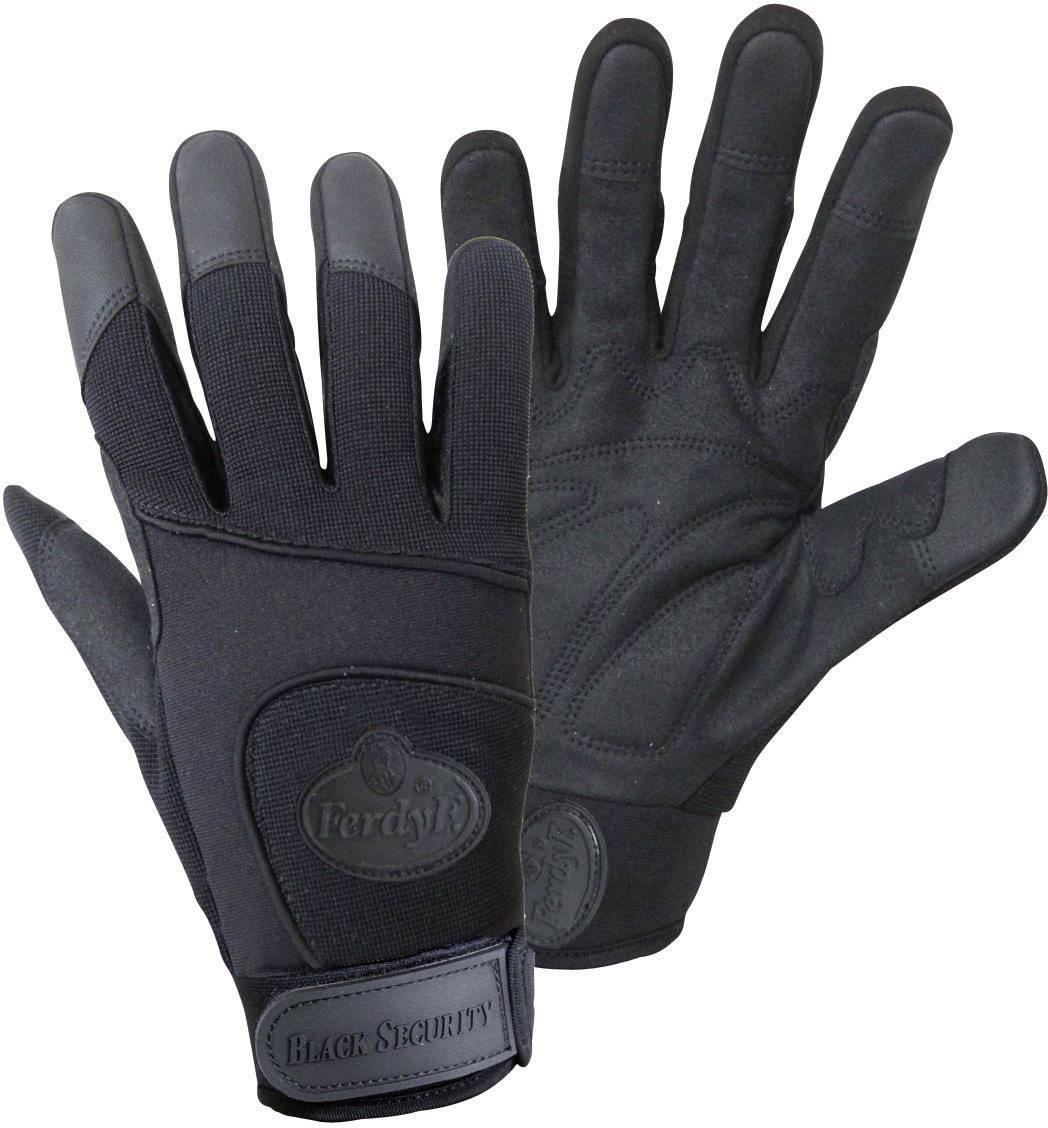Montážní rukavice FerdyF. BLACK SECURITY Mechanics 1911, velikost rukavic: 10, XL