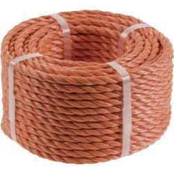 Polypropylenové lano kwb 9826-62, (Ø x d) 6 mm x 20 m, oranžová