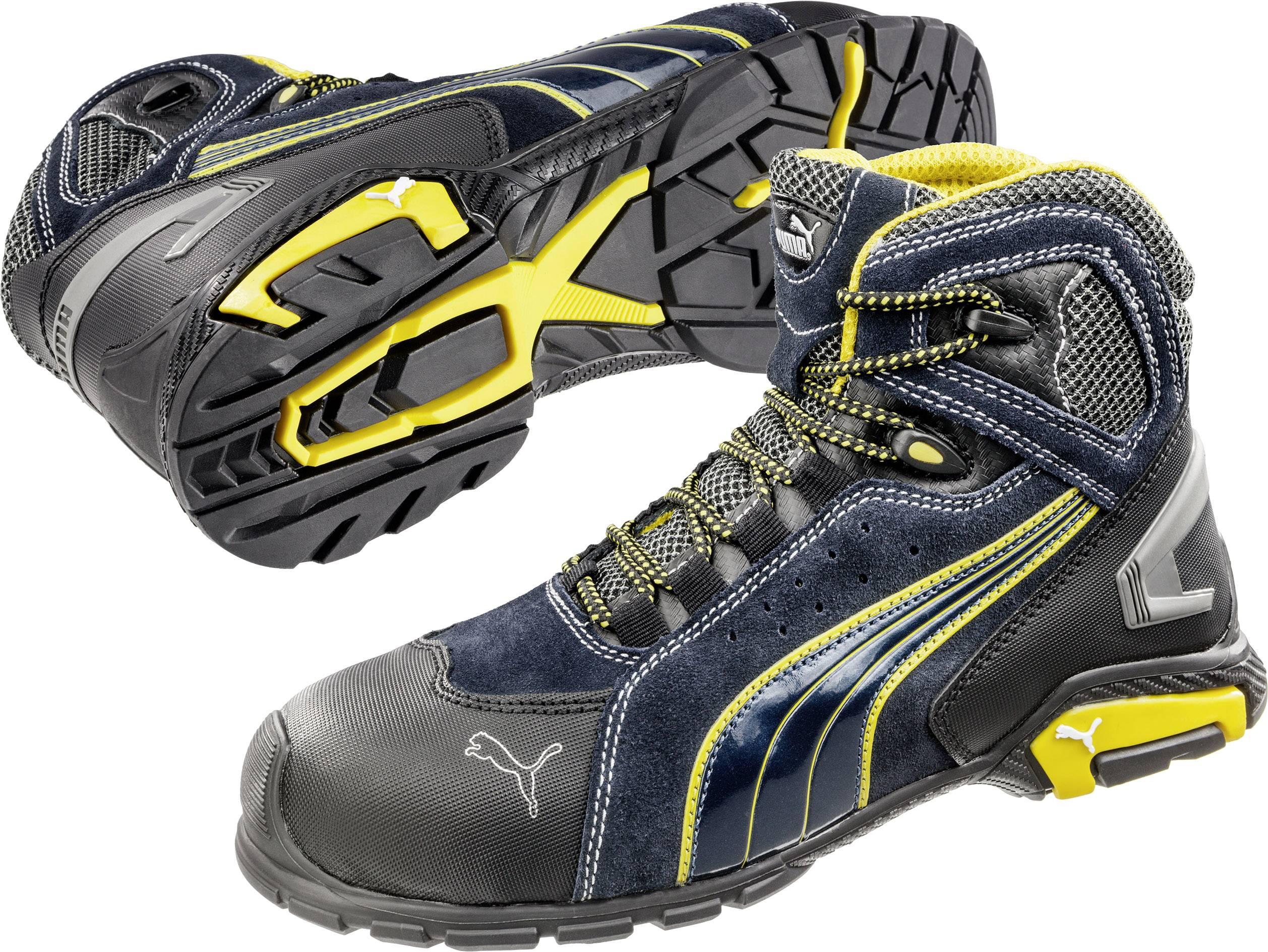 Bezpečnostní obuv S1P PUMA Safety Metro Protect 632230, vel.: 43, černá, modrá, žlutá, 1 pár