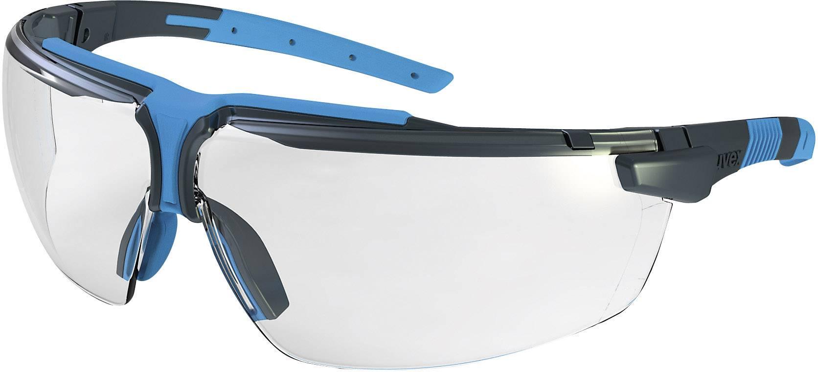 Ochranné okuliare Uvex I-3, čierne/modré