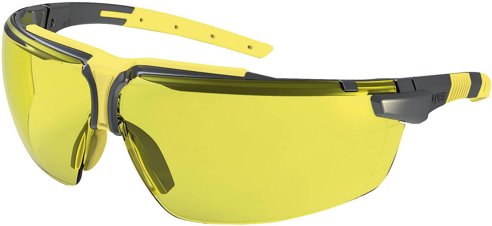Ochranné okuliare Uvex I-3, čierne/žlté