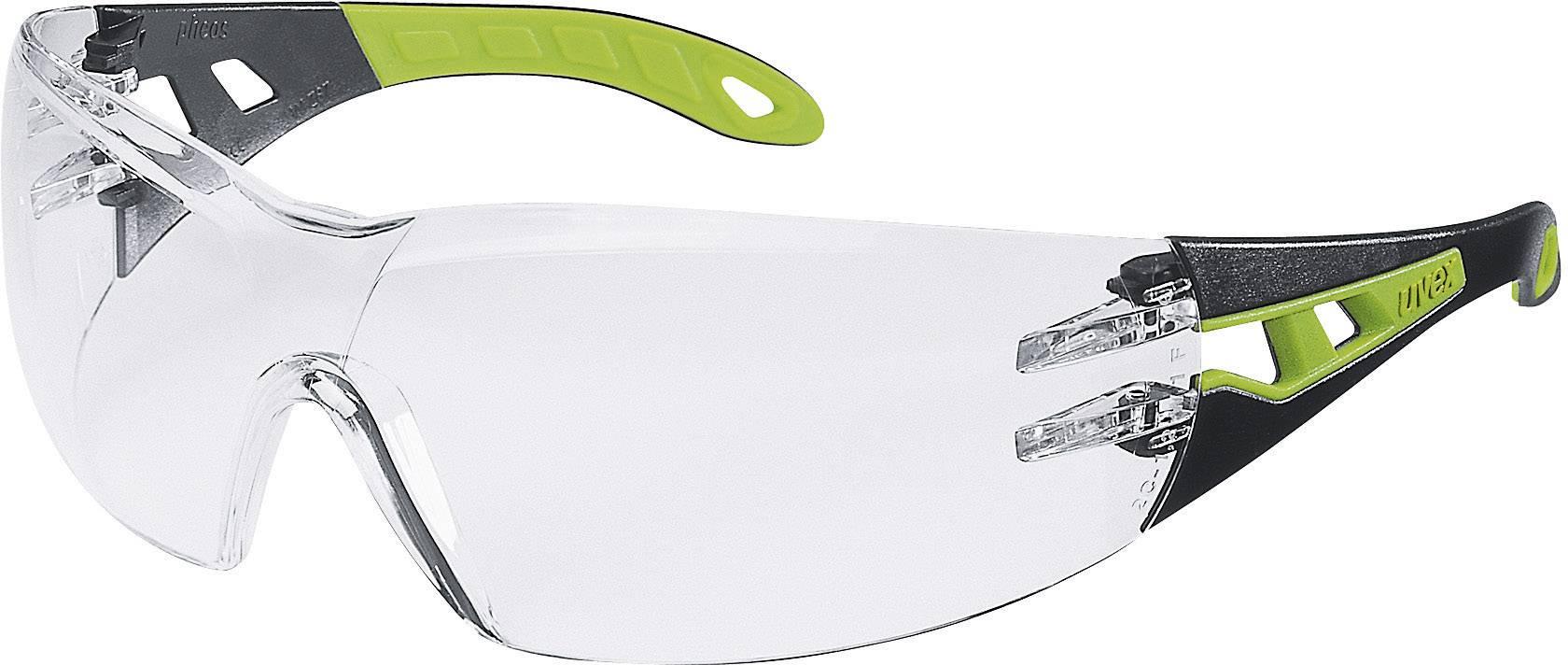 Ochranné okuliare Uvex Pheos, čierne/zelené