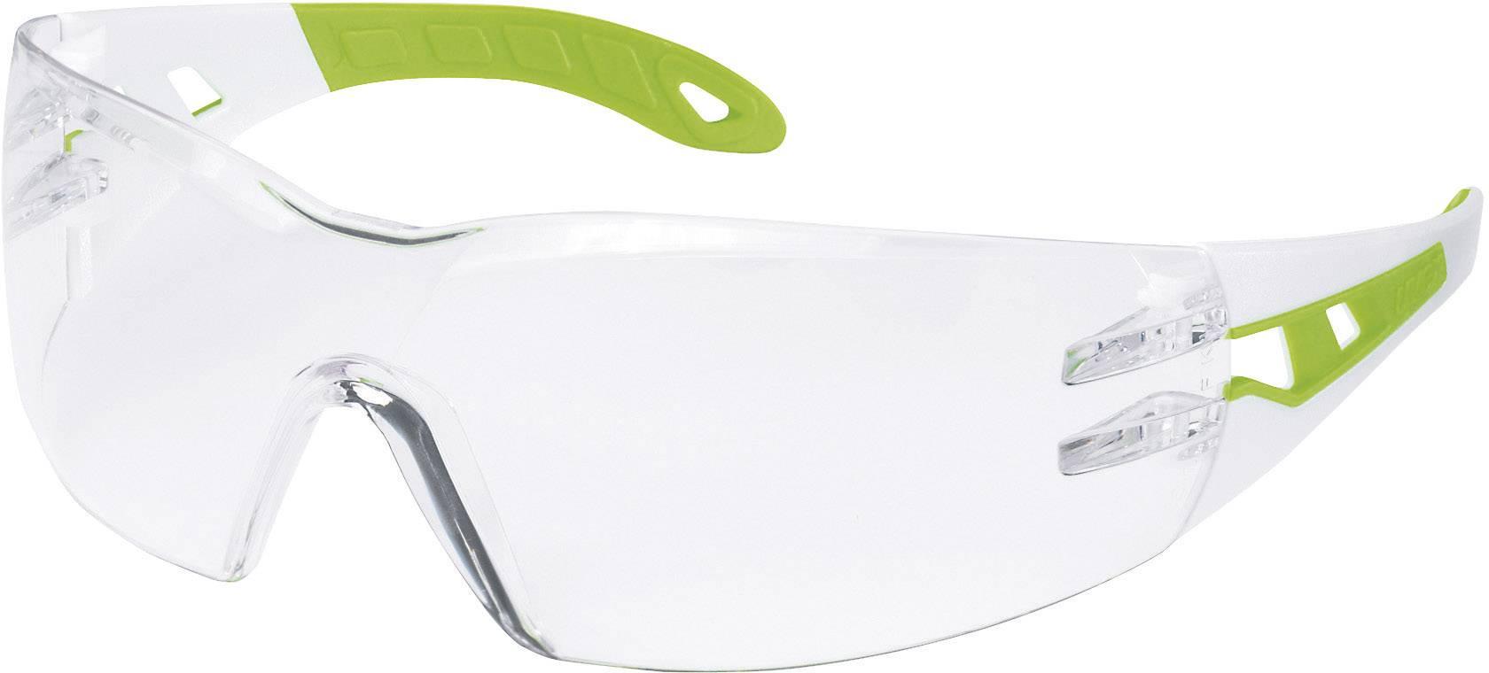 Ochranné okuliare Uvex Pheos, biele/zelené