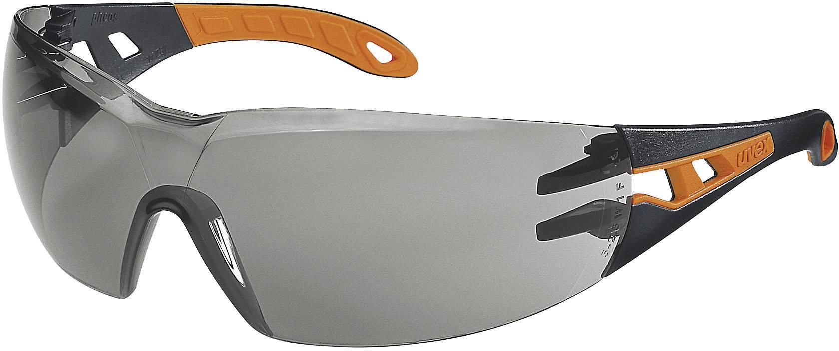 Ochranné okuliare Uvex Pheos, čierne/oranžové