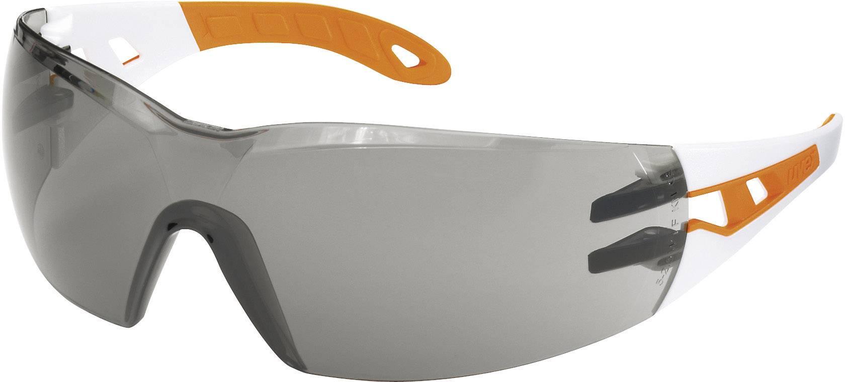 Ochranné okuliare Uvex Pheos, biele/oranžové