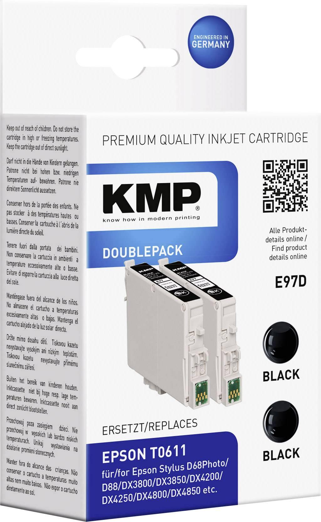 Kompatibilná sada 2 ks. náplní do tlačiarne KMP E97D 1603,0021, čierna