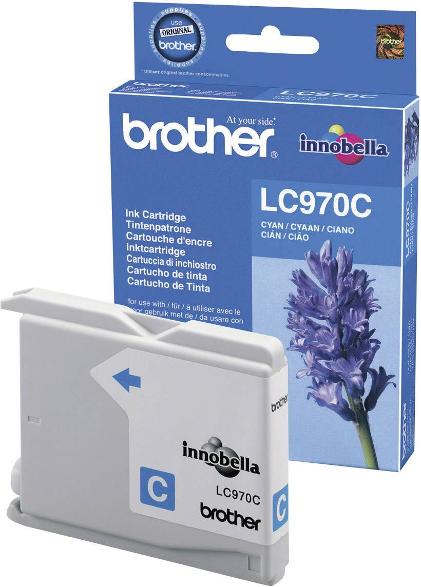 Cartridge Brother LC-970, LC970C, cyanová