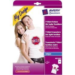 Inkoustová fólie na textil Avery-Zweckform My Design T-Shirt MD1006 A4 pro světlé textilie, optimalizovaný pro tisk inkoustem 24 listů