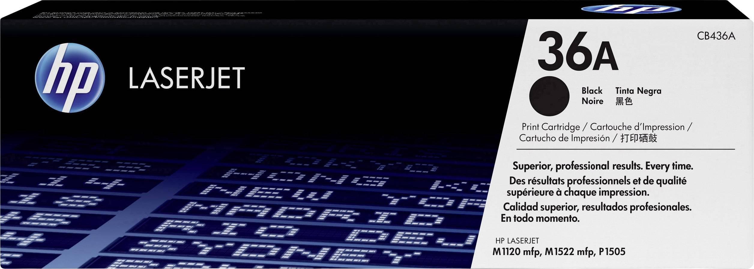 Toner HP 36A CB436A, černá