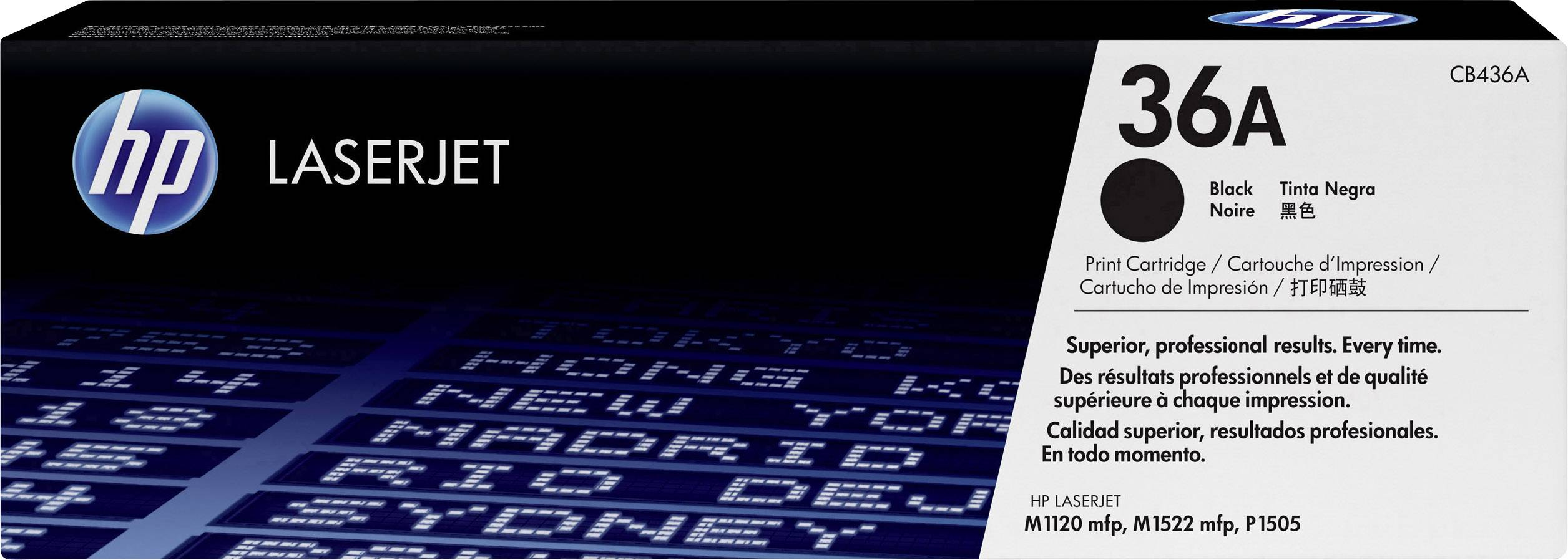 Toner HP 36A CB436A, čierna