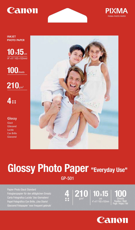 Fotografický papier Canon Glossy Photo Paper GP-501 0775B003, 10 x 15 cm, 210 gm², 100 listov