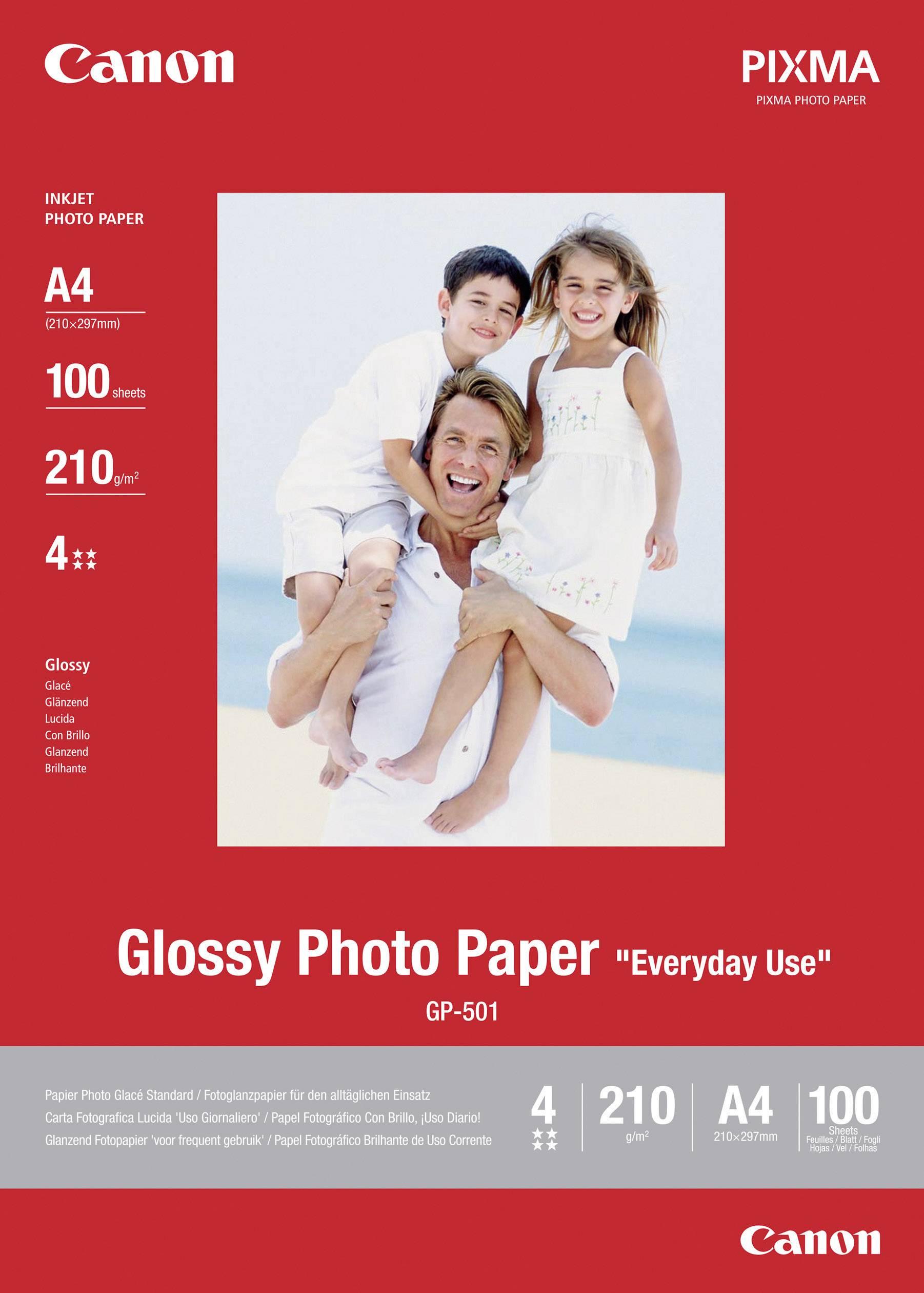 Fotografický papier Canon Glossy Photo Paper GP-501 0775B001, A4, 200 gm², 100 listov