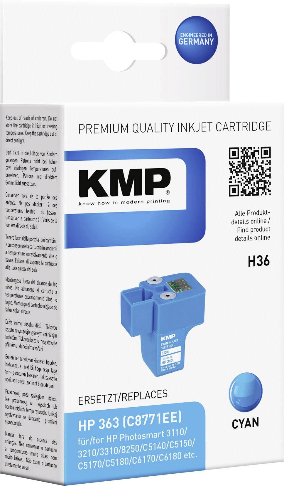 Toner inject KMP H36 = HP C8771EE (363) cyanová