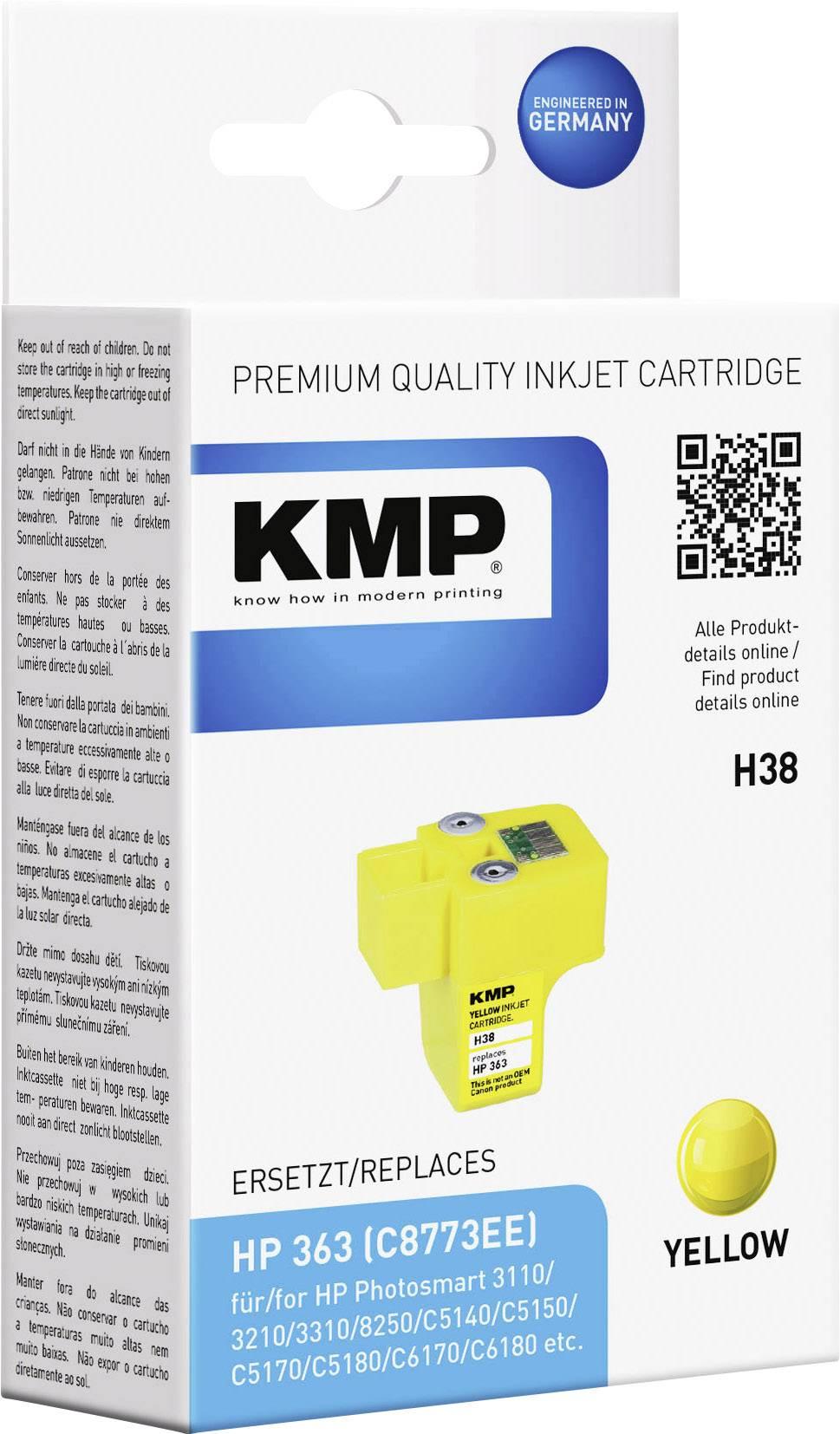 Toner inject KMP H38 = HP C8773EE (363) žlutá