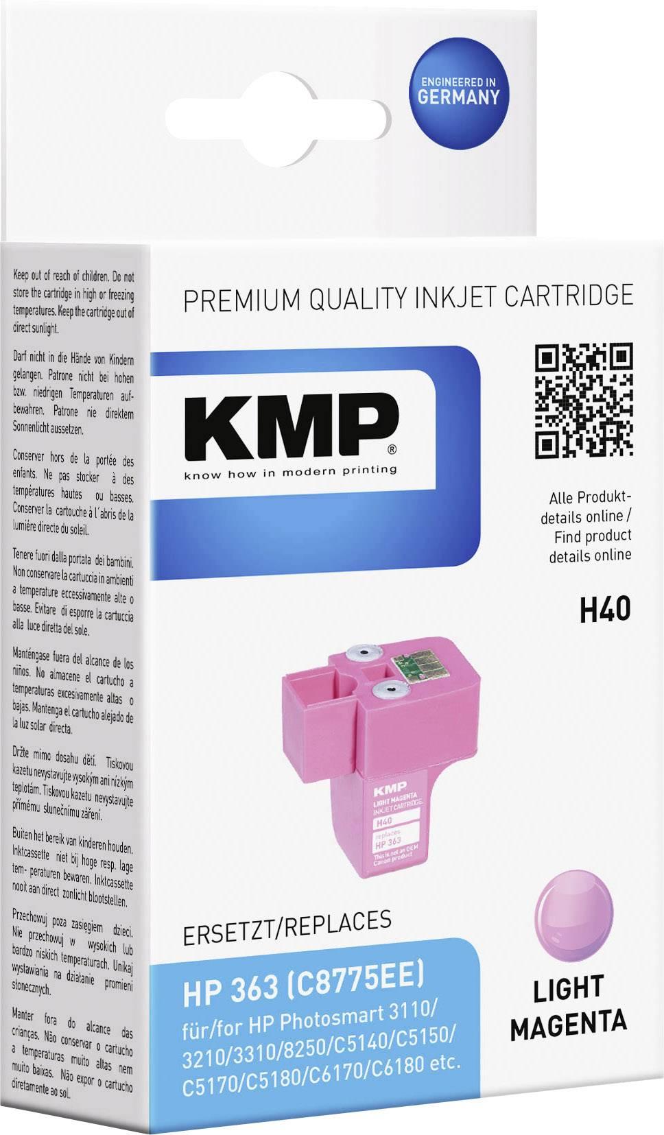 Toner inject KMP H40 = HP C8775EE (363) světlá magenta