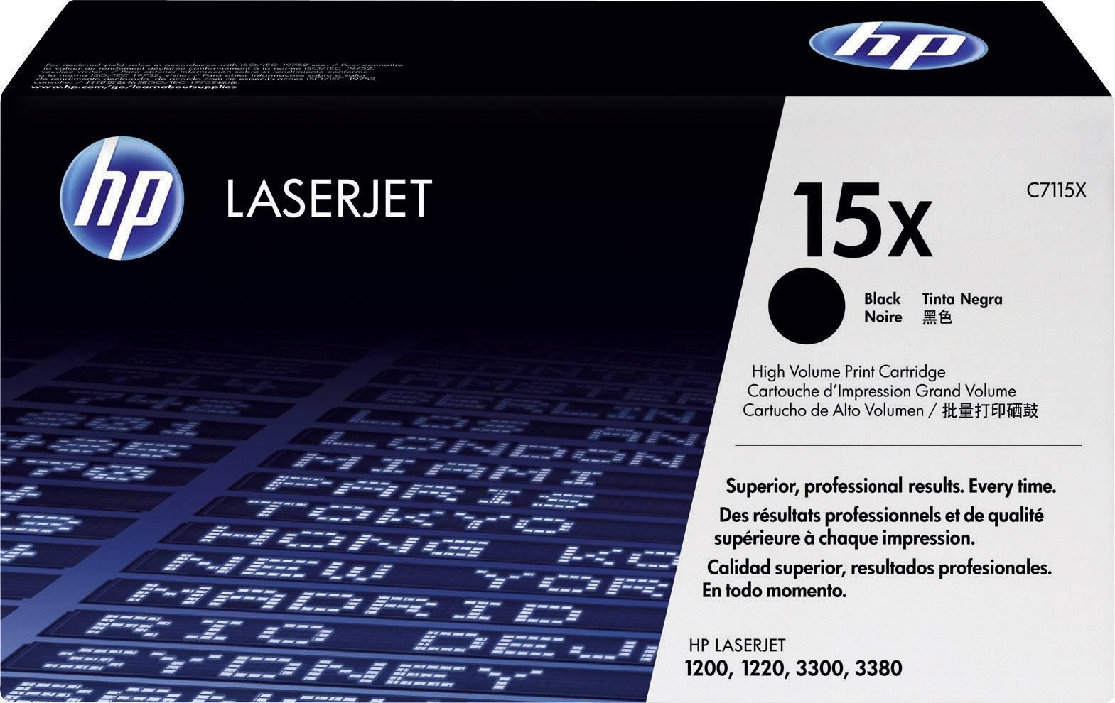 Toner HP 15X C7115X, černá
