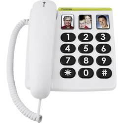 Šňůrový telefon pro seniory doro PhoneEasy 331 ph tlačítko fotoaparátu bez displeje bílá