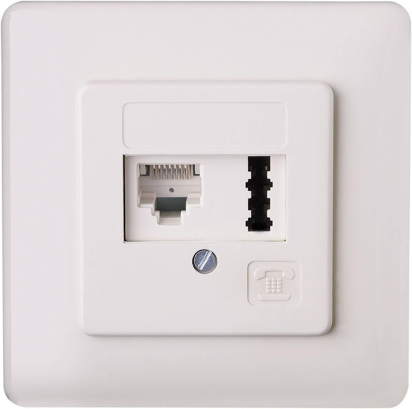 Zásuvka pro TAE/ISDN (RJ45), pod omítku, bílá