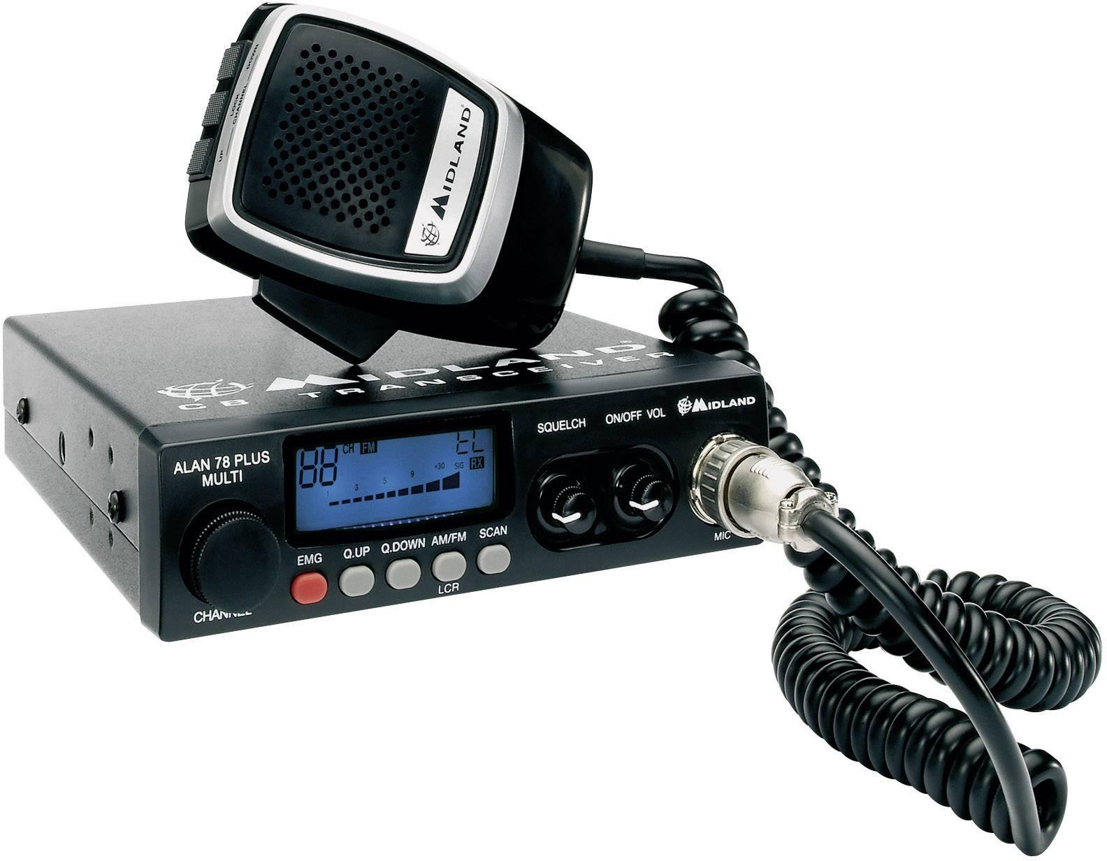 CB rádiostanica/vysielačka Midland ALAN 78 B Plus C423.15