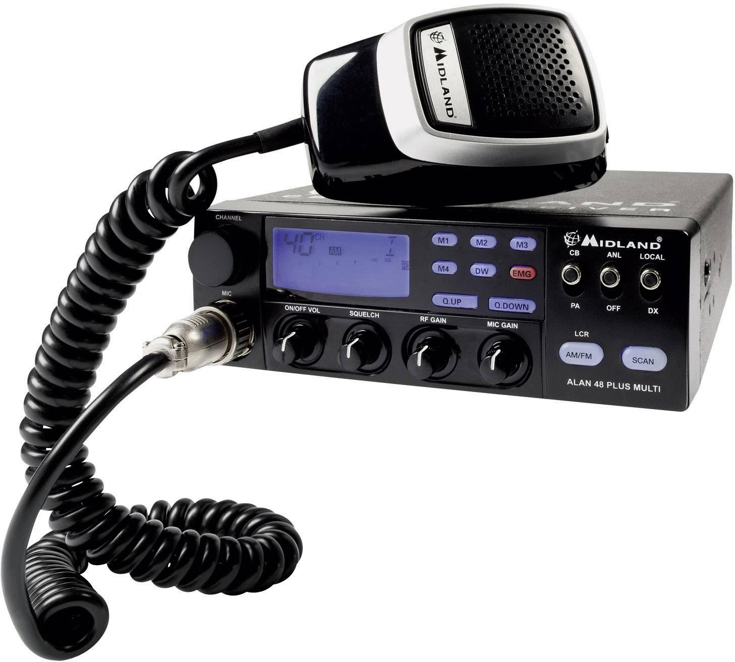 CB mobilní radiostanice Midland ALAN 48 B Plus