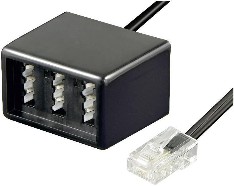 ISDN adaptér Wentronic RJ45/TAE-NFN, 0,1 m, černá