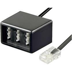 RJ45, TAE adaptér Basetech BT-1602101, 20.00 cm, černá