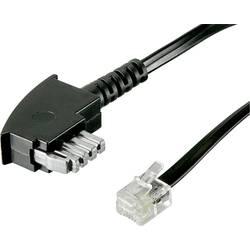 TAE, RJ12 fax kabel Basetech BT-1602085, 6 m, černá